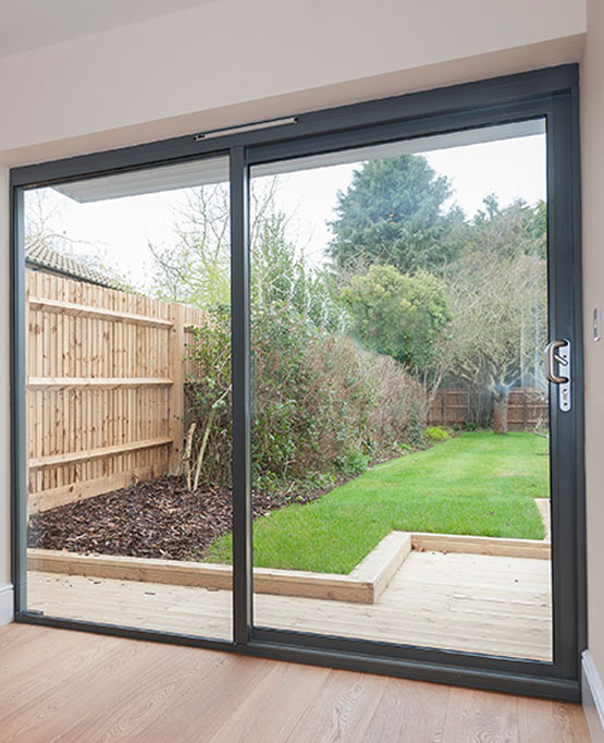 Conventional patio door in anthracite grey (internal)